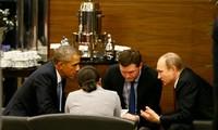 Tổng thống Mỹ Barack Obama và Tổng thống Nga Vladimir Putin tại cuộc gặp bên lề hội nghị G-20. Ảnh: Getty Images