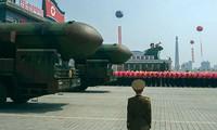 Quân đội Triều Tiên thể hiện sức mạnh.