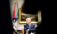 Tổng thống Mỹ Donald Trump trong cuộc họp hôm 11/1. Ảnh: NYT.