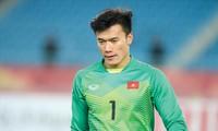 Thủ môn Bùi Tiến Dũng sớm gặp rắc rối trong việc khai thác hình ảnh sau khi trở về từ giải U23 châu Á. Ảnh: Hữu Phạm.