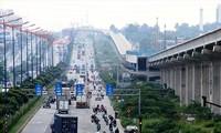 Dự án tuyến metro số 1 đoạn đi trên cao thuộc gói thầu số 2.