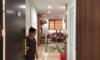 Một số hộ dân đã vào ở tại công trình Tổ hợp dịch vụ thương mại, văn hóa, thể thao, nhà ở và văn phòng cho thuê số 493 Trương Định.