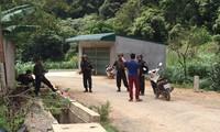 Cảnh sát bảo vệ, kiểm tra an ninh người ra vào bản Tà Dê.