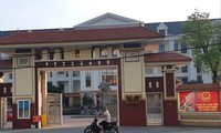 Trụ sở UBND huyện Vĩnh Tường nơi xảy ra việc đưa và nhận hối lộ. Ảnh:Minh Đức