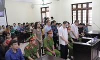Trong phòng xét xử vụ gian lận điểm thi ở Hà Giang Ảnh: Nguyễn Hoàn