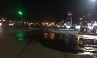 Vụ vỡ ống nước tại quận Long Biên lộ ra vi phạm của Cty sông Đuống Ảnh: T.H