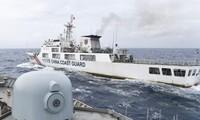 Tàu hải cảnh Trung acQuốc số hiệu 5302 xâm nhập vùng biển Indonesia.Ảnh: Antara