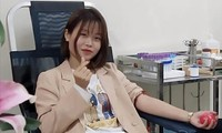 Hà Thị Thanh Tuyền đã ba lần hiến máu. Ảnh: NVCC