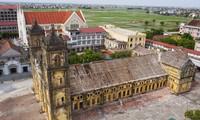 Nhà thờ mới sẽ được dựng trên nền nhà thờ cũ Ảnh: MINH ĐỨC