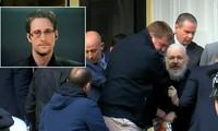 Edward Snowden (ảnh nhỏ) và ghi nhận tại hiện trường vụ bắt giữ Julian Assange