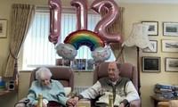 Bà Hocquard trong sinh nhật thứ 112 của mình hồi tháng 3 vừa qua.