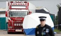 Chiếc xe container chở 39 người Việt Nam xấu số trong vụ án xảy ra cách đây hơn 1 năm. Ảnh: Reuters.