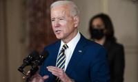 Ông Biden trong bài phát biểu được diễn ra tại Bộ Ngoại giao Mỹ. Ảnh: REX/Shutterstock.