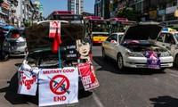 Các cuộc biểu tình phản đối chính quyền quân sự vẫn đang lan rộng tại Myanmar. Ảnh: Getty.