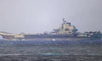 Tàu sân bay Liêu Ninh đi qua eo biển Miyako cuối tuần quaẢnh: BQP Nhật