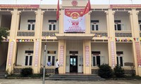 Trụ sở UBND xã Tiên Minh (huyện Tiên Lãng, TP Hải Phòng), nơi có phòng làm thủ tục cấp thẻ căn cước công dân gắn chíp do công an xã Tiên Minh thực hiện