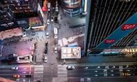 Quảng trường Thời đại trống trải khi dịch bùng phát tại thành phố New York. Ảnh chụp ngày 18/3. Ảnh: Reuters