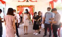 Đám cưới thời dịch (đám cưới tại huyện Bàu Bàng, Bình Dương). Ảnh: Hương Chi