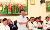 Ông Nguyễn Hồng Thanh phát biểu tại Hội nghị BCH LĐ bóng đá VN lần 6 khóa 8 ngày 13/5/2020. Theo ông Hồng Thanh, Phó Chủ tịch phụ trách tài chính VFF phải là một doanh nhân có uy tín, giỏi kiếm tiền và thạo về truyền thông Ảnh: CTV