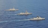 Hải quân Mỹ, Nhật và Australia tập trận chung trên Biển Đông ngày 19-20 tháng 10 năm 2020