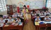Cô giáo Huỳnh Thị Phương Thảo trong một giờ lên lớp