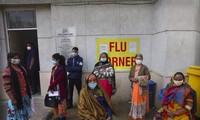 Người dân chờ xét nghiệm COVID-19 ở New Delhi hôm 11/2. Ảnh: AP