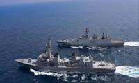Các tàu Ấn Độ tham gia đợt tập trận hải quân chung của Bộ Tứ vào tháng 11/2020. Ảnh: India Today