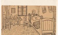 Phác họa tranh The Bedroom (phòng ngủ), kèm trong thư gửi cho Theo 16/10/1888