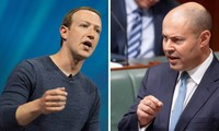 Người sáng lập Facebook Mark Zuckerberg (trái) và bộ trưởng Josh Frydenberg