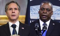 Ngoại trưởng Mỹ Antony Blinken (trái) và Bộ trưởng Quốc phòng Lloyd Austin. Ảnh: Yonhap
