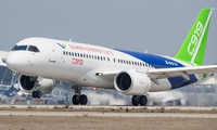 Trung Quốc muốn tự sản xuất động cơ trang bị cho các máy bay nội địa. Trong ảnh: Một chiếc C919 do Trung Quốc sản xuất. Ảnh: CGTN