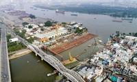 Cống kiểm soát triều Tân Thuậnthuộc dự án chống ngập 10.000 tỷ đồng ngưng thi công từ cuối tháng 4