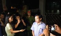 Ông Mai Văn Trinh, Cục trưởng Cục Quản lý chất lượng, Bộ GD&ĐT trao đổi với báo chí lúc 11h đêm ngày 21/7/2018 về những kết quả bước đầu liên quan đến việc xác minh những dấu hiệu nghi vấn điểm thi cao bất thường tại Sơn La