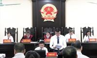 Phiên tòa xét xử vụ gian lận điểm thi ở Hà Giang