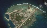 Đảo Phú Lâm thuộc quần đảo Hoàng Sa của Việt Nam bị Trung Quốc chiếm đóng và biến thành một tiền đồn quân sự. Ảnh: CSIS