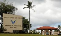 Quang cảnh cổng vào căn cứ không quân Andersen của quân đội Mỹ trên đảo Guam, lãnh thổ Thái Bình Dương của Mỹ. Ảnh: REUTERS