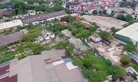 Khu đất 551 Nguyễn Văn Cừ (Long Biên) nơi đặt Nhà máy xe lửa Gia Lâm. Ảnh: Điệp Điệp