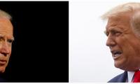 Tổng thống Mỹ Donald Trump (phải) và đối thủ Joe Biden. Ảnh: Reuters