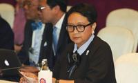 Ngoại trưởng Indonesia Retno Marsudi. Ảnh: AP