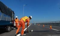 Đường cao tốc Đà Nẵng - Quảng Ngãi được sửa chữa vào năm 2018, sauhơn1 tháng thông xe toàn tuyến. Ảnh: Nguyễn Thành