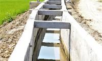Kênh dẫn nước vùng hạ du bị phản ánh thiết kế cao hơn thượng nguồn