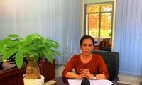 Bà Huỳnh Thị Kim Huệ, Hiệu trưởng trường THPT Chu Văn An