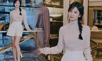 Song Hye Kyo tết tóc 'hack tuổi', diện quần short khoe chân thon siêu hút mắt