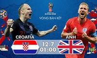 Croatia vs Anh, 01h00 ngày 12/7