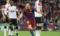 Messi ăn mừng bàn thắng ở trận chung kết năm 2011
