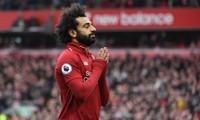 Mohamed Salah ăn mừng bàn thắng trước Chelsea