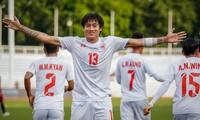 U22 Myanmar ăn mừng bàn thắng. Ảnh: Zing.