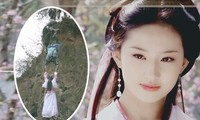 Hậu trường cảnh treo mình nguy hiểm trong 'Thiên Long Bát Bộ' của Lưu Diệc Phi