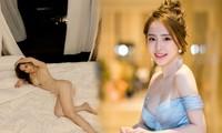 Quỳnh Nga gây 'sốt' với ảnh áo tắm màu nude khoe trọn vòng 3