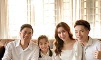 Gia đình Lưu Hương Giang và ca sĩ Đức Phúc.